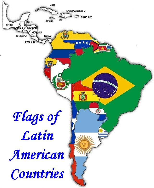 Latin American Flags; 20 Latin American Country flag set from $20.00