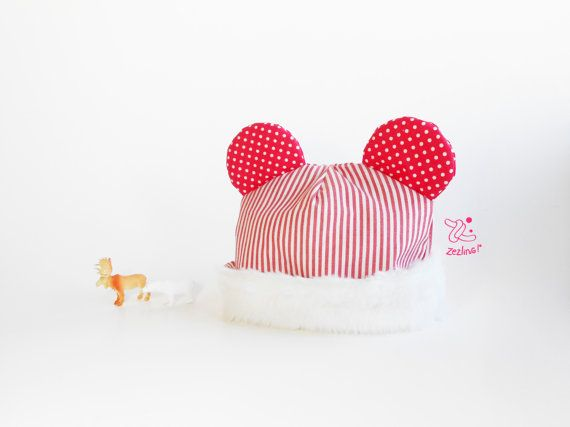 Baby Modern Beenie  Baby hat with ears  newborn hat  by Zezling