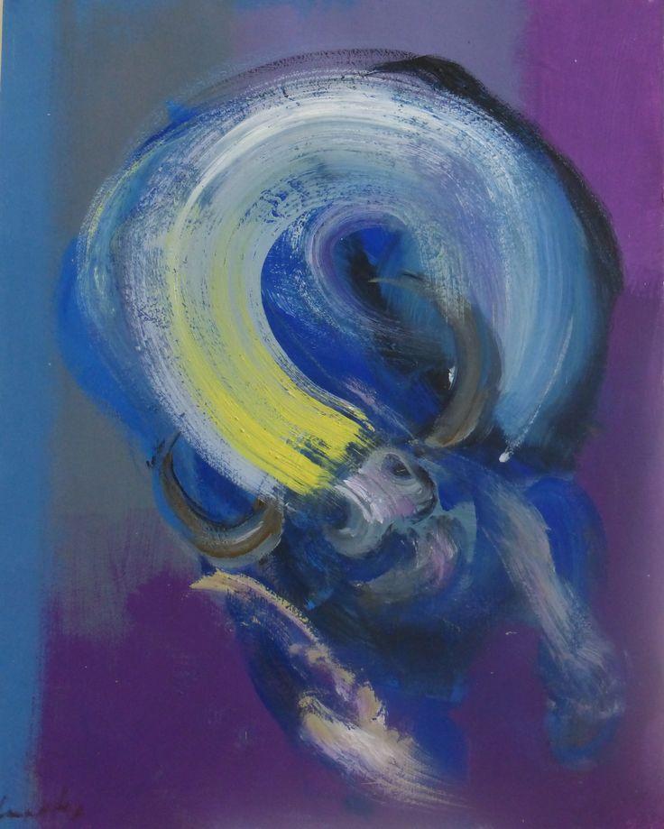 Taureau VII (acrylique sur papier, 2009-2012) est un tableau de l'artiste contemporain français Christophe Dupety (né en 1959), dont l'œuvre s'inscrit dans le registre de la peinture figurative. Cette pièce unique est issue de la série «Tauromachie» du peintre.Dimensions: 65 x 50 cm«Pas de demi-mesure dans cette peinture qui vient des tripes. Couleurs sanguines, traits pulsionnels, sensualité violente...le tout solidement maîtrisé dans un sens aigu de la morphologie: épaisseur de la matière…