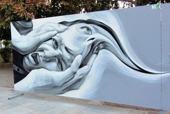 Greece/Naousa street art by Ino