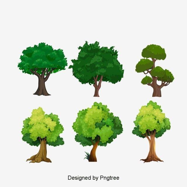Gambar Pohon Clipart Pokok Kehijauan Pokok Png Dan Psd Untuk Muat Turun Percuma In 2021 Tree Clipart Tree Green Trees