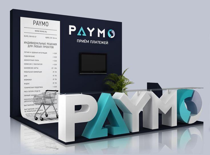 Логотип и стенд для компании PAYMO #greendiz #portfolio #website  Подробней http://greendiz.ru/portfolio/paymo/