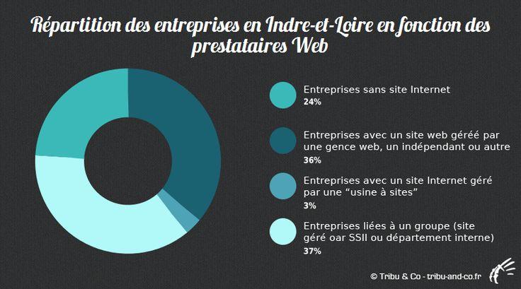 Graphique de la répartition des entreprises en Indre-et-Loire en fonction des prestataires web