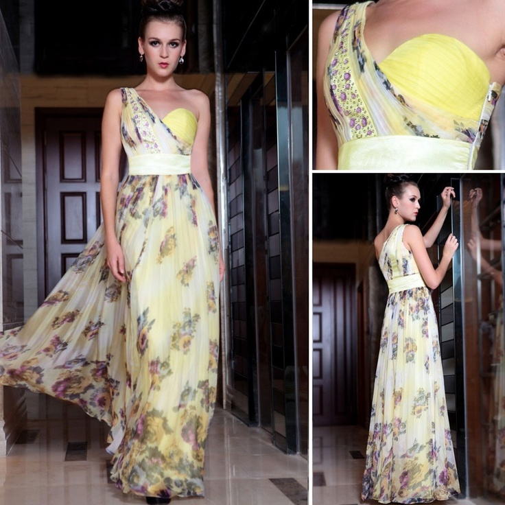 The Formal Shop - - BRIDESMAID DRESS - YELLOW FLORAL $249.00