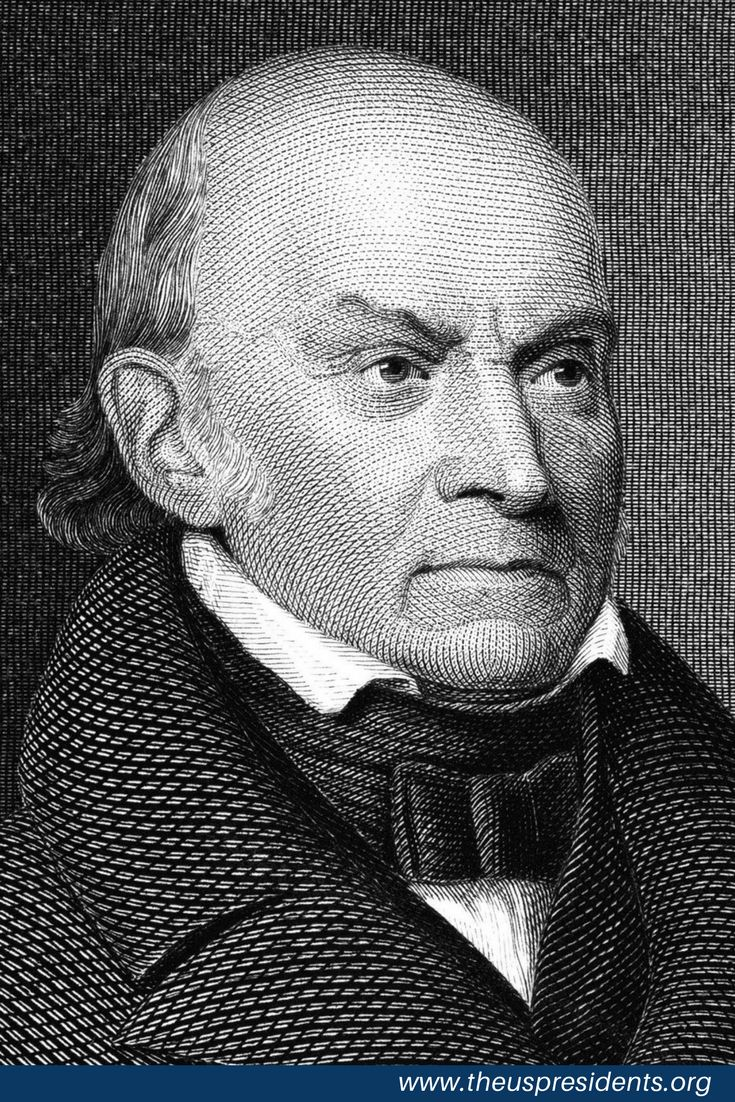 Born in Massachusetts on July 11, 1767, John Quincy Adams was the eldest son of President John Adams and the sixth president of the United States. In his pre-presidential years, Adams was one of America's greatest diplomats (formulating, among other things, what became the Monroe Doctrine); in his post-presidential years, he conducted a consistent and often dramatic fight against the expansion of slavery.