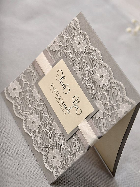 Custom listing 50 Wedding Thank You Cards with by 4LOVEPolkaDots, $225.00