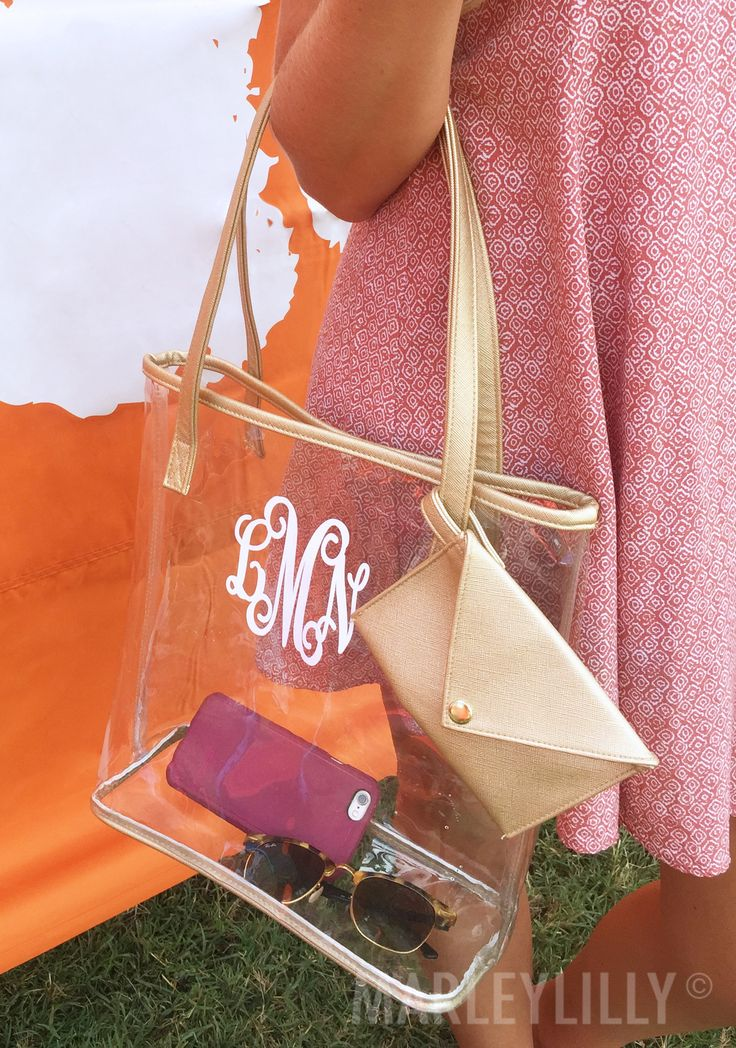 Get game day ready with a Monogrammed Clear Bag! Custom designed to meet stadium guidelines!