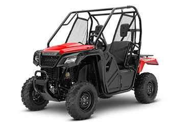 New 2017 Honda 500 Red ATVs For Sale in California. 2017 Honda 500 Red, Choosing the right tool is the job half done. And it can make whatever you re trying to do a lot more fun. For thousands of side-by-side owners, the right tool for the job is a Honda Pioneer 500. It s big enough to seat two easily, but at just 50 inches wide, it can fit where bigger side-by-sides can t, letting you explore trails with width restrictions. That means it also fits into a full-sized pickup s bed easily. But…