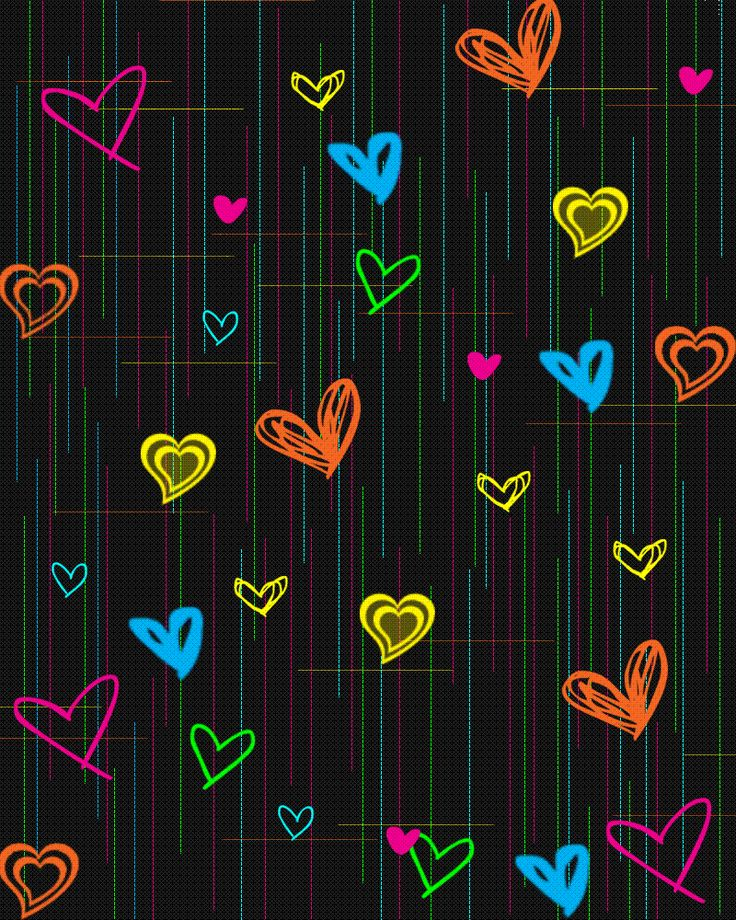 Colorful Iphone Wallpaper: 26 Best Hearts Images On Pinterest