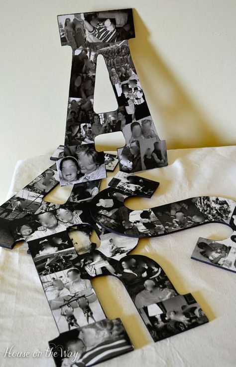 Cool DIY Photo Projects and Craft Ideas for Photos - Photo Collage Letters - Easy Ideas for Wall Art, Collage and DIY Gifts for Friends. Wood, Cardboard, Canvas, Instagram Art and Frames. Creative Birthday Ideas and Home Decor for Adults, Teens and Tweens #EverydayArtsandCrafts