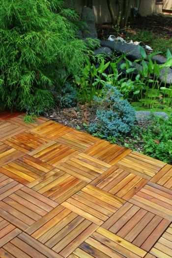 Another good option for the yard...ikea makes deck tiles