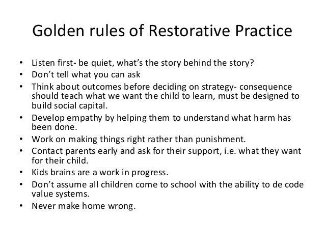how to change your school to a restorative practice school
