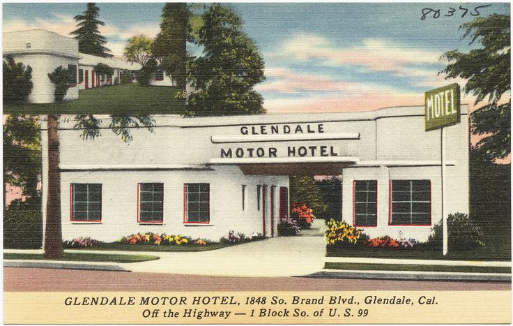337 best california art postcards posters images on for Motor hotel los angeles