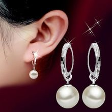 Boucle d'oreille fashion jewelry stud earrings925 sterling silver earrings pearl earring for girls earrings for women pendientes(China (Mainland))