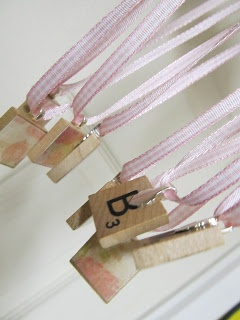 Scrabble Tile Necklaces with each girls initials on them ~ cute party favor idea