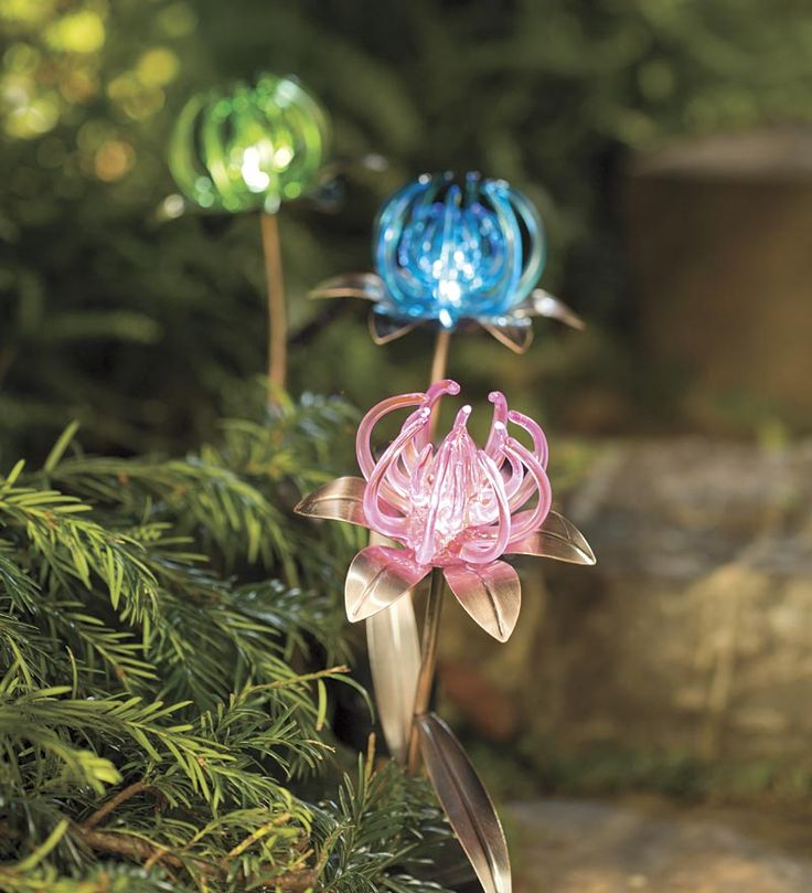 332 best solar glow accents lights lanterns images on pinterest add a touch of light and whimsy to your garden paths walkways patios or entryways with these artistic set of three solar spider flower garden stakes aloadofball Gallery