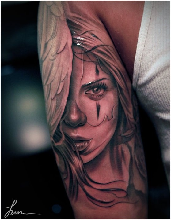 Clown Girl Tattoo Meaning: Best 101 Jun Cha Tattoos Images On Pinterest