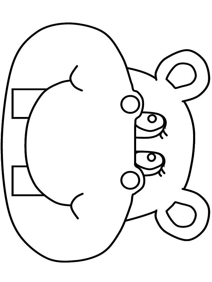 hippo face template - 718×957