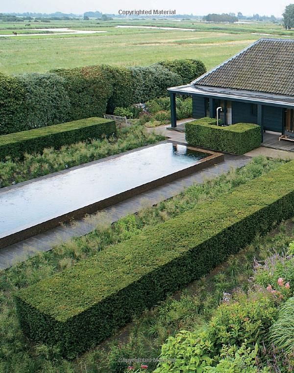 contemporary water feature - Piet Oudolf