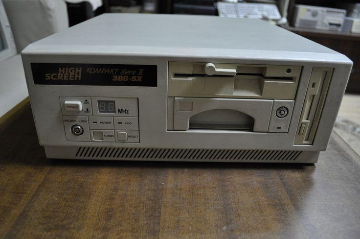 HIGHSCREEN KOMPAKT Serie III 386-SX 1990 OLD 386 WORKING ...