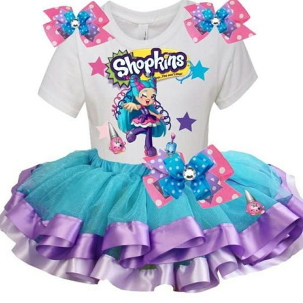 Shopkins Birthday Tutu Outfit Set - POLLI POLISH Shoppie Doll