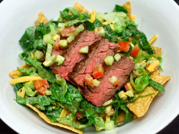 Taco salad with steakChocolates Trifles, Mr. Tacos, Steak Tacos, Salad Recipe, Tacos Salad, Favorite Recipe, Taco Salads, Dishes Salad, Serious Eating