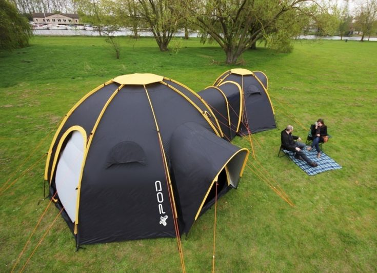 Have you remembered camping doughnut camping tent? It's pity that the modular camping tent is just a design concept, so we found POD tents that utilize multiple Camping Hacks, Best Tents For Camping, Camping Survival, Tent Camping, Survival Skills, Camping Gear, Survival Gear, Family Tent, Family Camping