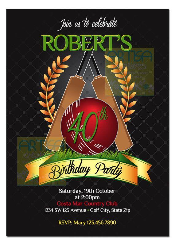 Cricket Invitation Printable File DIY - Cricket  Birthday Invitation DIY - Cricket Retirement Party - Cricket Party Invitation - Cricket DIY, $12.00