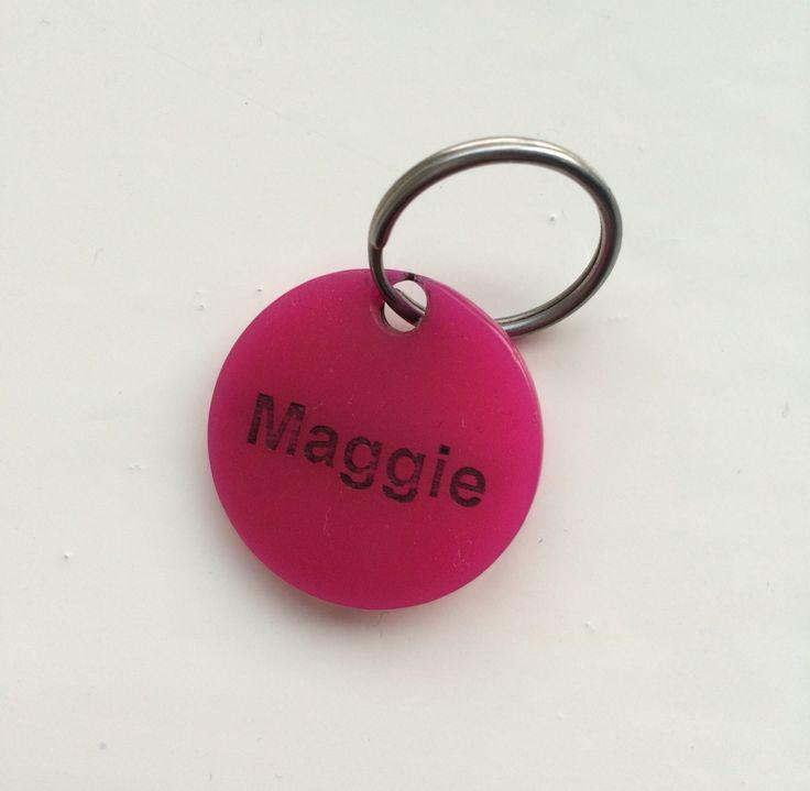 Tatty Devine dog tag pink Maggie