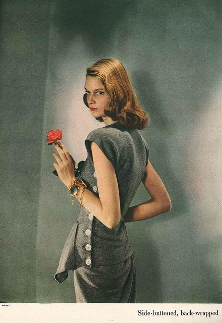 February Harper's Bazaar 1947 by dovima_is_devine_II, via Flickr