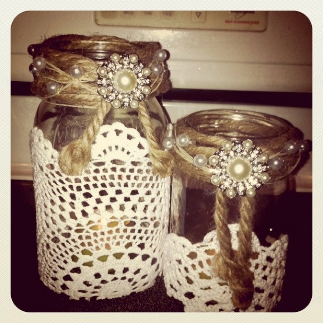 16 best images about christmas decor diy style on for Diy candle jar decorations