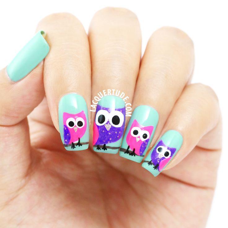 Best 25 owl nail art ideas on pinterest owl nails owl nail lacquertudepp owl nail art prinsesfo Images