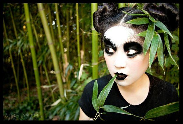 25+ Best Ideas About Panda Makeup On Pinterest | Halloween Facepaint Kids Zebra Face Paint And ...
