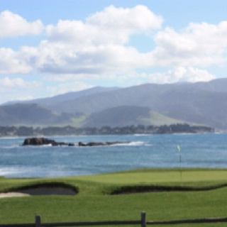 18th hole at Pebble Beach