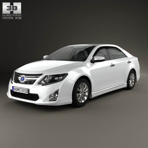 Toyota Camry Hybrid 2011 3d model from humster3d.com. Price: $75