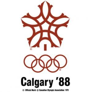Official logo for thw 1988 Olympic games in Calgary