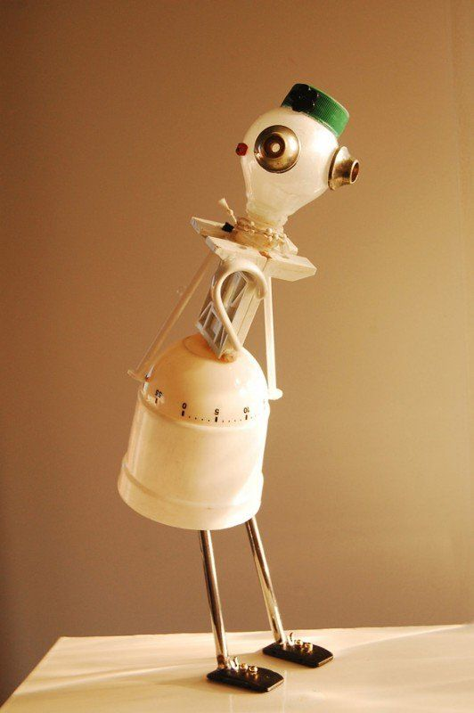 Re beings Robots in art  with Sculpture Robots Reused Recycled