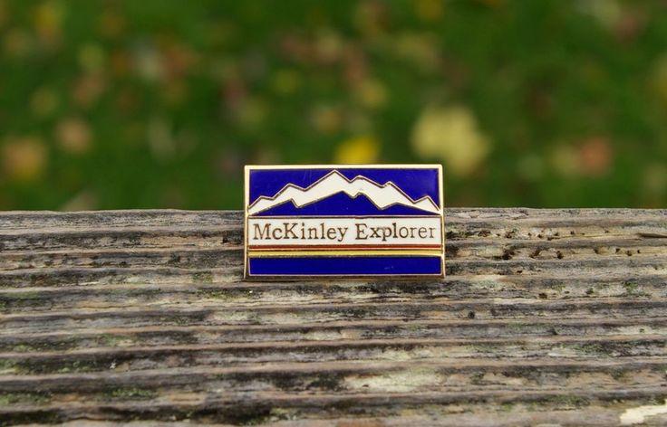 McKinley Explorer Mountains Anchorage Alaska Train Gold Tone Metal Pin Pinback  | eBay