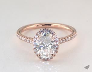 LOVE this rose gold oval engagement ring.