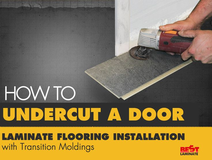 We walk you through a step-by-step guide on how to undercut a door when installing laminate flooring! #DIY #Installation #Guide #Flooring #Laminate http://www.slideshare.net/Bestlaminate/how-to-undercut-a-door-llaminate-flooring-installation-with-transition-moldingspptx