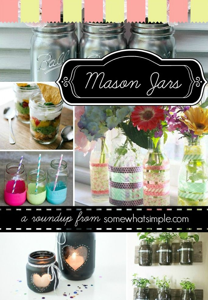 TONS of mason jar craft idea, decorating and baking with them for gifts!