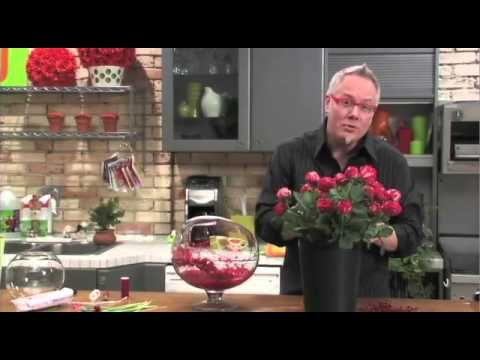 How to make an arrangement in a Candy Filled Vase - YouTube