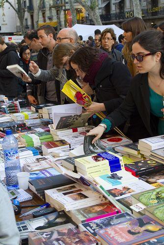 SantJordi Welttag des Buches und Sant Jordi in Katalonien