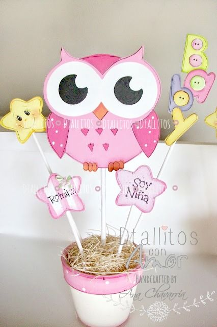 centro de mesa buhita baby https://www.facebook.com/pages/Detallitos-con-amor/226388200757614?ref=bookmarks