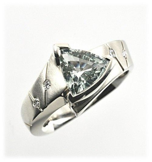 Triangle Solitaire Diamond Ring