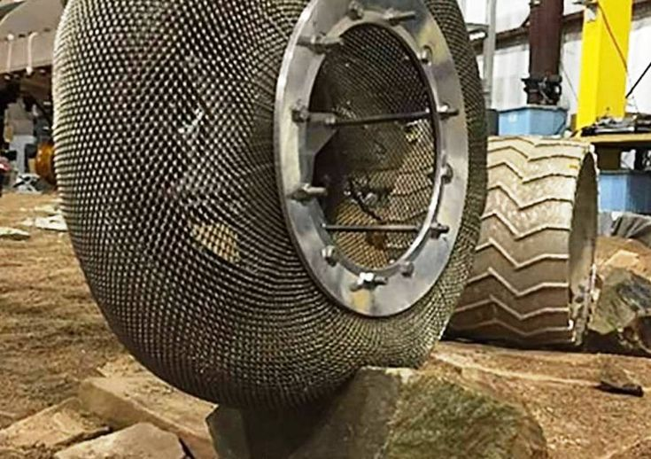 NASA reinvents the wheel with new, shape shifting 'chainmail' tire design. After building the shape memory alloy tire, Glenn engineers sent it to NASA's Jet Propulsion Laboratory for testing. It performed impressively on the punishing track.