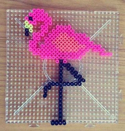 Bügelperlen Flamingo - Hama beads flamingo