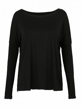 Shop Black Batwing Long Sleeve T-shirt from choies.com .Free shipping Worldwide.$8.9