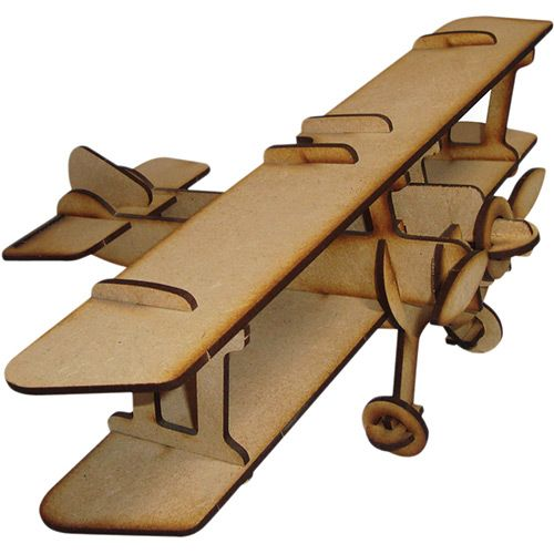 Quebra-Cabeça 3D Biplano P - Cia Laser