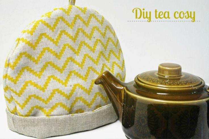 DYI Linen Fabric Tea Cosy By Ada & Ina